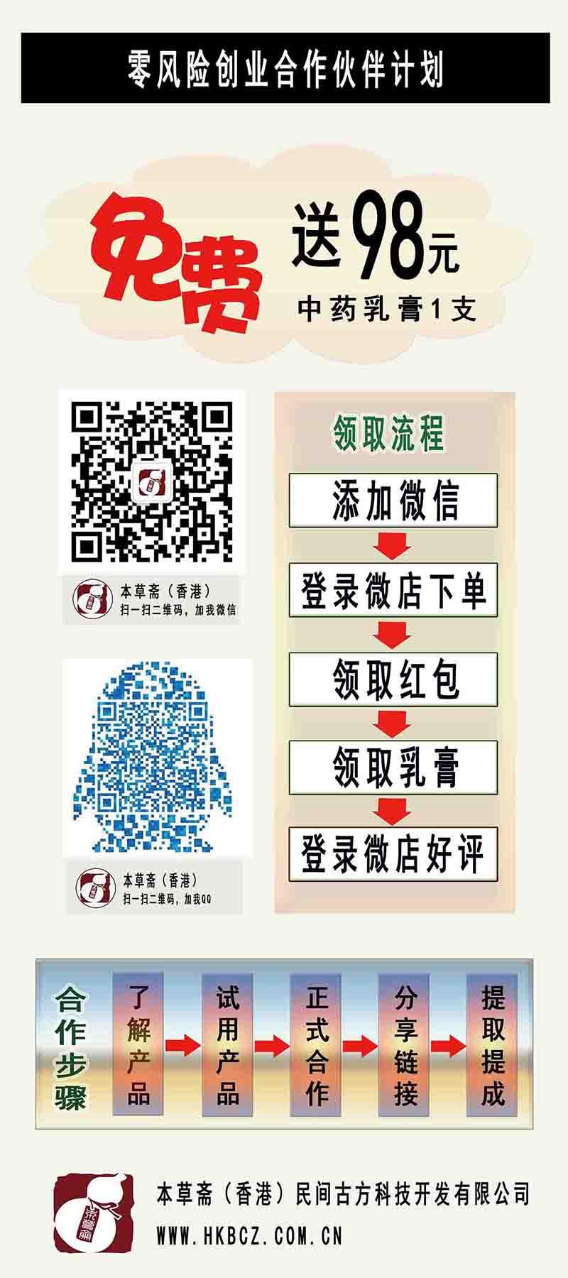 鬼臼王草本乳膏(鬼臼王®)零风险创业合作伙伴计划
