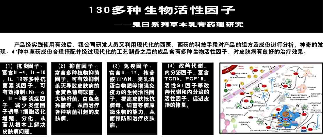 鬼j臼王草本乳膏富含130种活性因子